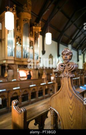 Kanada, Quebec, Gartenschau Region, Lennoxville, Bishop's University, St. Mark's Kapelle, gotische Kapelle, die im Jahre 1857 erbaut, innen - Stockfoto