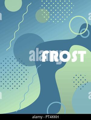 Winter Hintergrund mit Farbverläufen, Formen und geometrischen Elementen in Memphis Stil. Abstrakt Poster ideal für Ausdrucke, Flyer, Banner, Einladungen, spezielle - Stockfoto