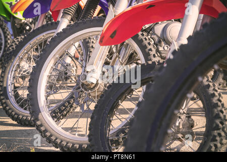 Motocross Reifen und Räder - Stockfoto