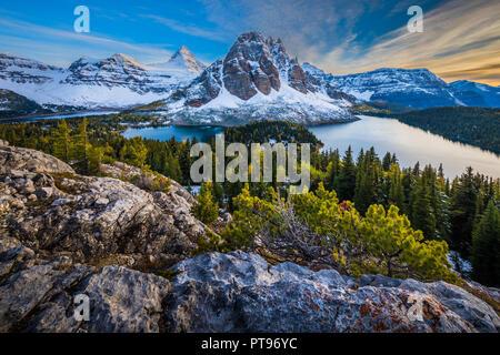 Mount Assiniboine Provincial Park ist ein Provincial Park in British Columbia, Kanada, um Mount Assiniboine gelegen. Der Park wurde 1922 gegründet. S - Stockfoto