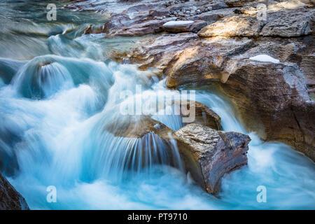 Nigel Creek ist ein kurzer Stream in den Kanadischen Rocky Mountains von Alberta, Kanada. - Stockfoto