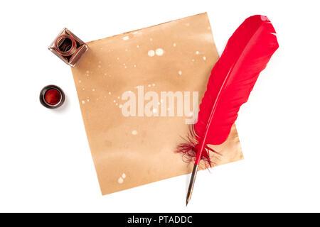 altes papier feder tinte stockfoto bild 32535722 alamy. Black Bedroom Furniture Sets. Home Design Ideas