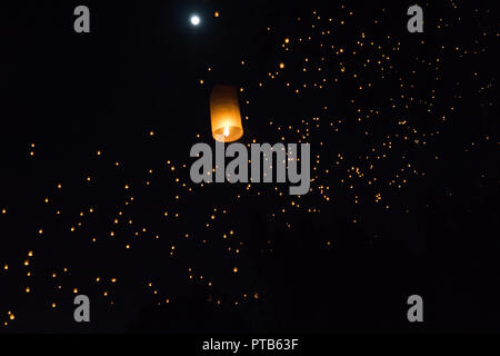 Windlicht Festival in Chiang Mai, Thailand - Stockfoto