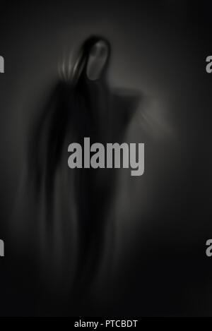 Screaming ghost abstrakte Malerei auf einem dunklen Hintergrund. - Stockfoto
