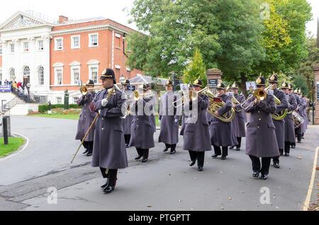 Freitag, 5. Oktober, die 1 Bataillon des Herzogs von Lancaster's Regiment ausgeübt ihr Recht als Ehrenbürgern der Gemeinde durch die Parade durch die Kriegführenden - Stockfoto