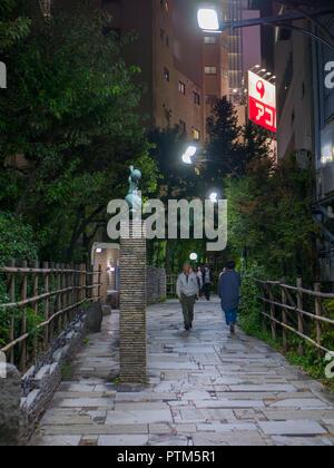 Tokio, Japan. September 11, 2018. Kleine Fußgängerüberweg in der Mitte von kabukicho Bezirk, Tokio - Stockfoto