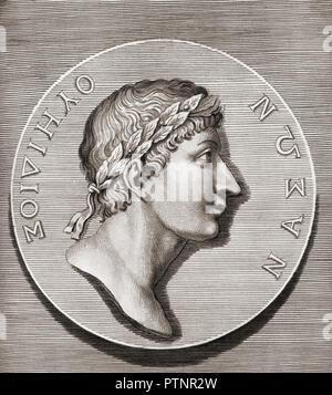 Publius Ovidius Naso, 43 v. Chr. - 17/18 AD, aka Ovid. Römischer Dichter Stockfoto