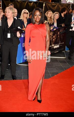 London, Großbritannien. 10. Oktober, 2018. Viola Davis, ' Witwen BFI London Film Festival Eröffnungsgala, Leicester Square, London.UK Credit: michael Melia/Alamy leben Nachrichten - Stockfoto
