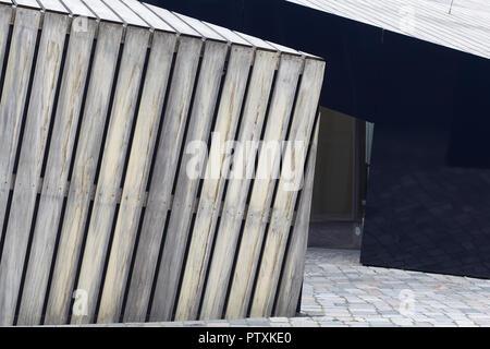 Jüdisches Museum Berlin, schneidende Cubes - Stockfoto