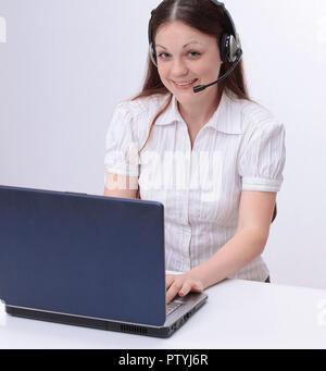 Junge Frauen Mitarbeiter eines Call Centers. - Stockfoto