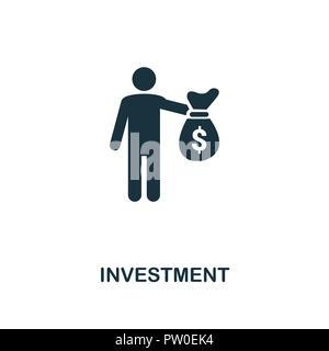 Investitionen Symbol. Schwarzweiß-Design von fintech Sammlung. UX und UI. Pixel Perfect Investitionen Symbol. Für Webdesign, Anwendungen, Software, Druck u - Stockfoto