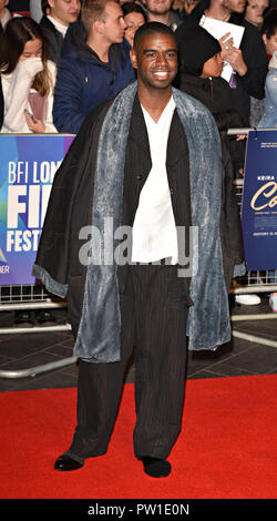 London, Großbritannien. 11. Okt 2018. Johnny Palmer auf der 62 BFI London Film Festival: Colette - Gönner Gala - Cineworld Leicester Square, London am Donnerstag, 11. Oktober 2018 Foto von Keith Mayhew Credit: KEITH MAYHEW/Alamy leben Nachrichten - Stockfoto