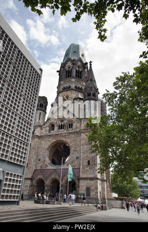 Kaiser-Wilhelm-Gedächtniskirche in Berlin Deutschland - Stockfoto