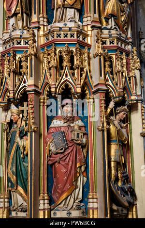 UK, Kent, Canterbury, die Kathedrale von Canterbury Innenraum, Pfarrhaus, Cadaver Grab von Erzbischof Chichele, gemalte Dekoration, - Stockfoto