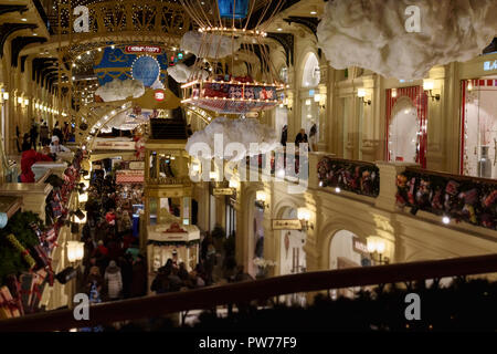 Christmas Shopping in Moskau, Russland - Stockfoto