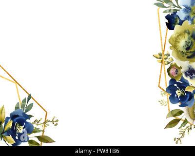 Hand zeichnen aquarell hochzeit frame kranz gr n und lila for Lila und grun kombinieren