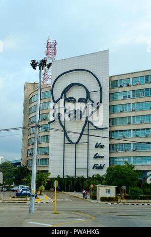 Ministerium des Innern, auf dem Platz der Revolution, Havanna, Kuba - Stockfoto