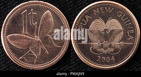 Papua Neuguinea 1 Toea Münze Stockfoto Bild 33672044 Alamy
