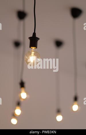 Vintage, retro LED-Lampen - Stockfoto