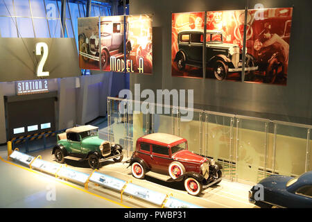 Die Alte Galerie am Ford Rouge Factory Tour, in Dearborn in Detroit, Michigan, USA - Stockfoto