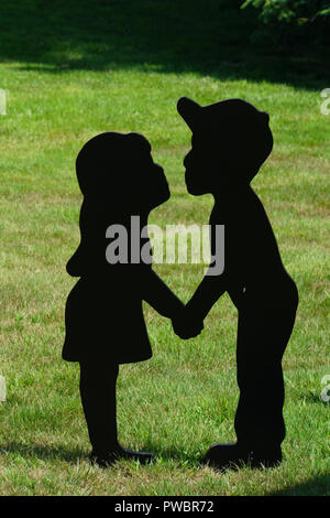 Zwei Kinder Schatten - Stockfoto