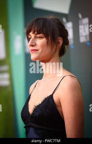 Kate Sumpter an der Little Drummer Girl Premiere im Rahmen der BFI London Film Festival, am Ufer Garten Kino in London. Sonntag, den 14. Oktober, 2018 - Stockfoto