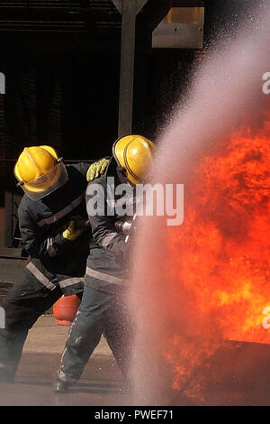 Industrial Building Brand - Stockfoto