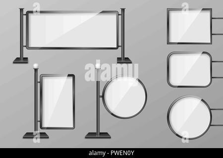 Werbetafel Beleuchtung   Vector Retro Schild Oder Lightbox Abbildung Mit Anpassbaren Design