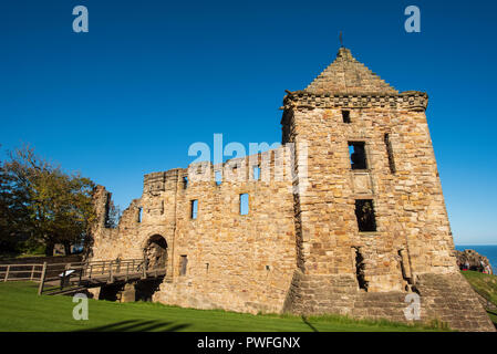 St. Andrews Castle, St Andrews, Fife, Schottland. - Stockfoto