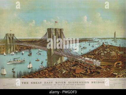 Brooklyn Bridge 1892. - Stockfoto