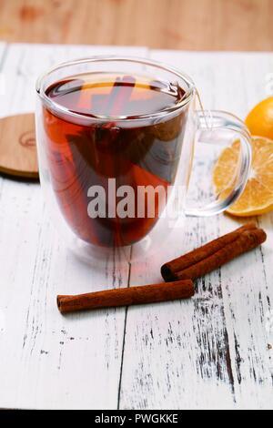 Earl Zimt orange Kaffee - Stockfoto