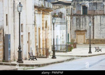 Specchia, Apulien, Italien - Besuch der historischen Altstadt von Specchia - Stockfoto