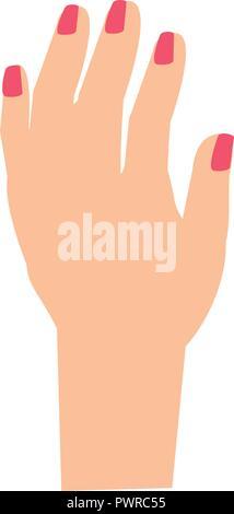 Hand, stop avatar Charakter Vector Illustration Design - Stockfoto