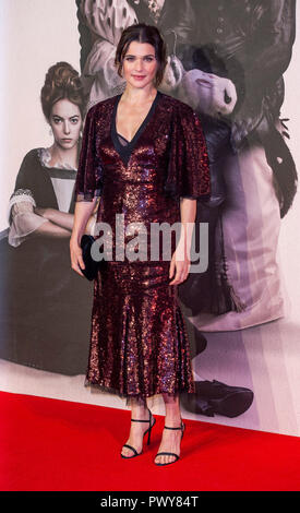 "London, Großbritannien. 18. Oktober, 2018. Rachel Weisz besucht die UK-Premiere von ""Der Favorit"" & American Express Gala am 62. BFI London Film Festival am 18. Oktober in London, England 2018. Credit: Gary Mitchell, GMP-Media/Alamy leben Nachrichten - Stockfoto"