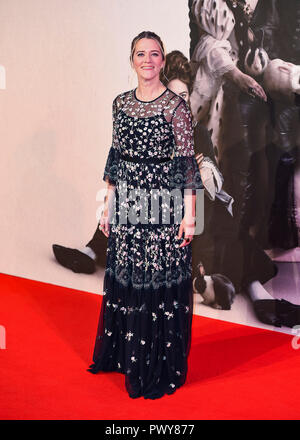 "London, Großbritannien. 18. Oktober, 2018. Edith Bowman besucht die UK-Premiere von ""Der Favorit"" & American Express Gala am 62. BFI London Film Festival am 18. Oktober in London, England 2018. Credit: Gary Mitchell, GMP-Media/Alamy leben Nachrichten - Stockfoto"