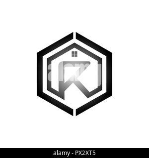 Buchstabe R Logo Design Element mit Business Card illustration Vektor Logo Vorlage