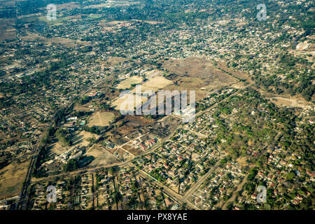 Simbabwes Hauptstadt Harare Luftaufnahmen - Stockfoto