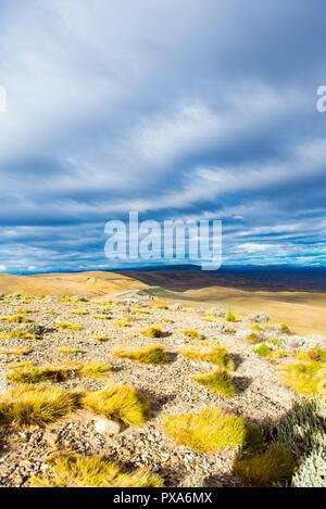 Blick auf die herrliche Landschaft von Patagonien, Argentinien, Südamerika. Vertikale - Stockfoto
