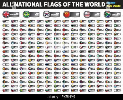 Flaggen Der Amerika Komplettes Set Von Fahnen In Den
