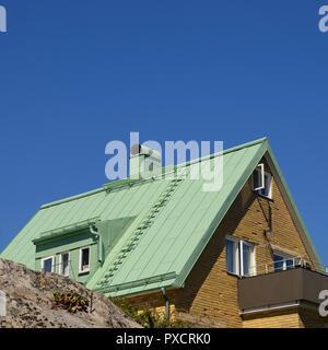 Das architektonische Detail einer Dachlinie auf einem Home - Stockfoto