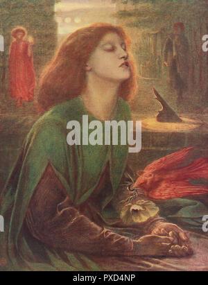 Beata Beatrix, von Dante Gabriel Rossetti (1828-1882). - Stockfoto
