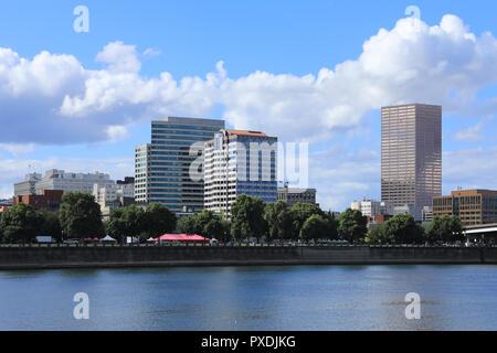 Anzeigen von Portland, Oregon, an einem sonnigen Tag - Stockfoto
