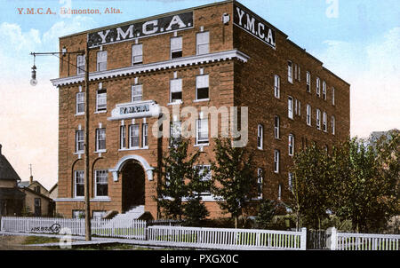 YMCA (Young Men's Christian Association), Edmonton, Alberta, Kanada. Datum: ca. 1910 s - Stockfoto
