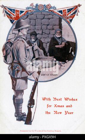Weihnachtsgrüße Männer.Eine Eher Ungewöhnliche Weihnachtsgrüße Postkarte Mit Einem