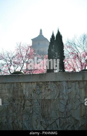 Wildgans-pagode, den Turm in Xian, China Shaanxi - Stockfoto