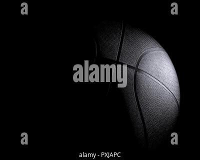 Basketball close-up auf schwarzem Hintergrund - Stockfoto