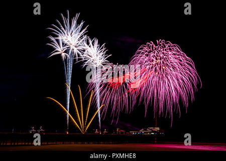 Gewinner des Internationalen Feuerwerkswettbewerb in Blackpool, Lancashir, Großbritannien - Stockfoto