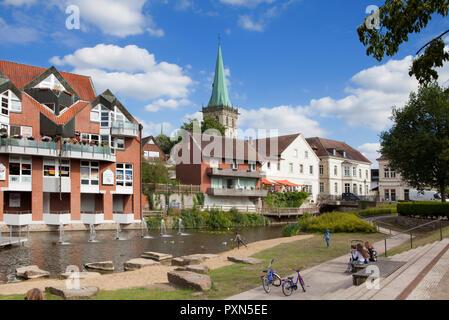 Stadtbild von Lüdinghausen, Münsterland, Nordrhein-Westfalen, Deutschland, Europa - Stockfoto