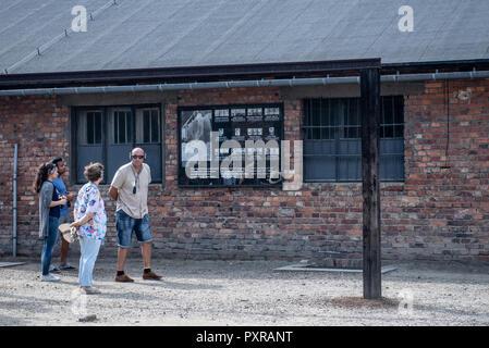 National Museum Auschwitz-Birkenau, Auschwitz, Kleinpolen, Polen. - Stockfoto