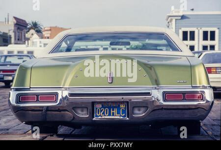 Archiv Bild eines Modell Lincoln Continental Mark lV Limousine 1976, Kalifornien, USA, 1987 - Stockfoto